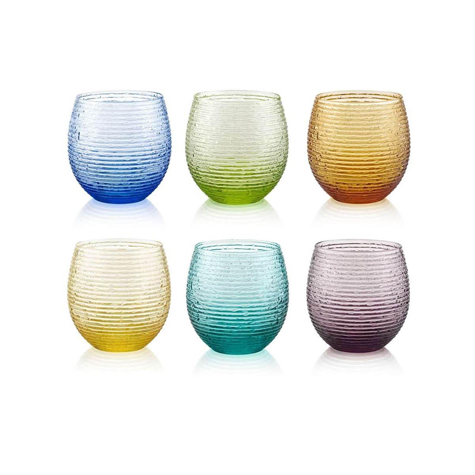 Bicchieri acqua IVV 6 pz multicolor