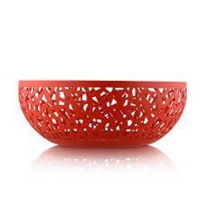 Alessi Fruttiera Traforata rossa grande