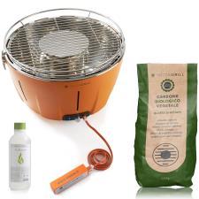 Barbecue Da Tavolo CLASSE  Italy Arancio Power Bank con carbone e Accendifuoco