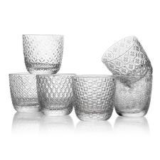 Bicchieri IVV Acqua Trasparente Ottiche Assortire Set 6 Pezzi