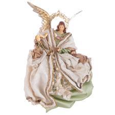 Bizzotto Decorazione Natalizia Angelo Liberty Verde