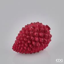 Candela Natalizia EDG Pigna Stesa H8x12 cm Rosso