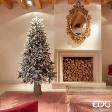 EDG Albero Di Natale Pino Merano Innevato H180 D117