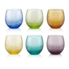 IVV Bicchieri Acqua Colori Assortiti Cl25 Set 6 Pezzi