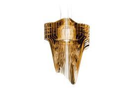 Lampadario Sospensione Slamp Aria Large Gold