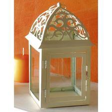 Lanterna Brandani Fiore Grande Bianca Metallo Vetro