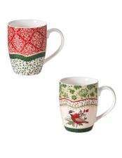 Mug Brandani Cantico Set 2 Pezzi New Bone China Uccellino