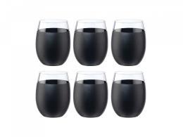 Set 6 Bicchieri Vino Onlylux Galassia Nero