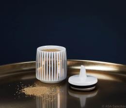zuccheriera Asa bianca e oro